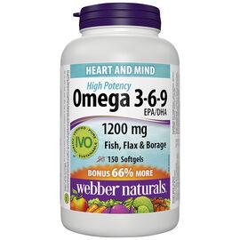 Webber Naturals Omega 3-6-9 - 1200mg - 90's