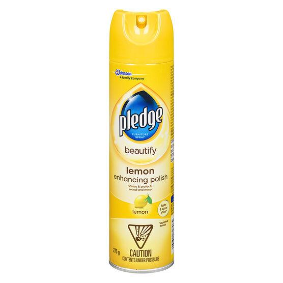 Pledge Furniture Spray - Lemon Fresh - 275g