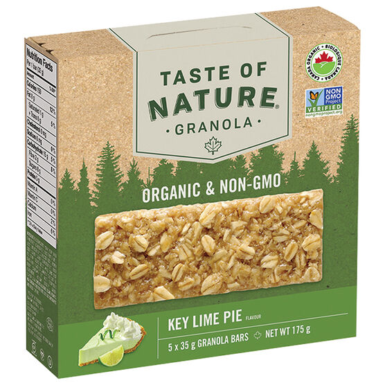Taste of Nature Granola Bars - Key Lime Pie - 5 x 35g