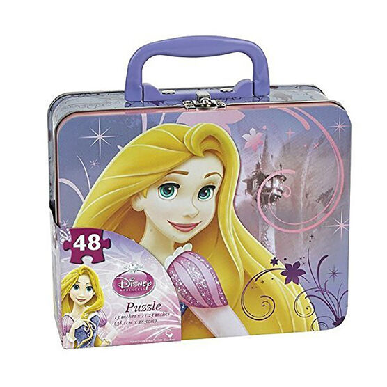 Princess Tin Box with Puzzle - Assorted