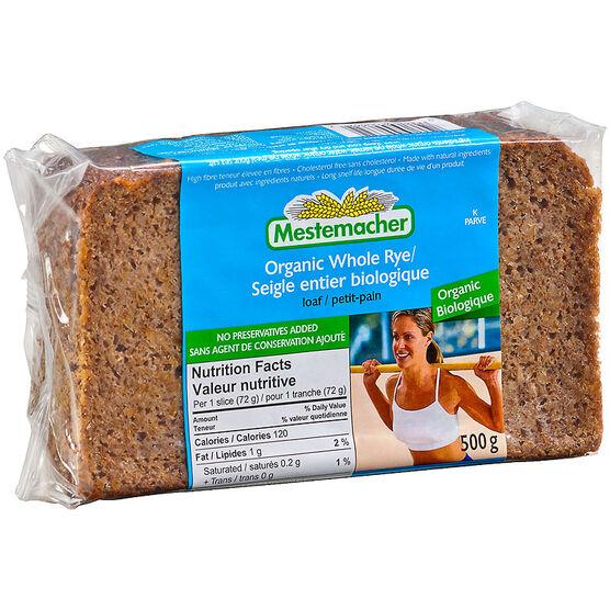 Mestemacher Loaf - Organic Whole Rye - 500g