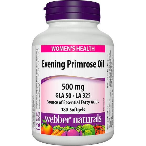 Webber Naturals Evening Primrose Oil 500mg - 180's