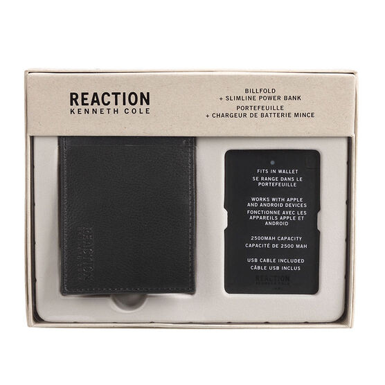 Kenneth Cole Billfold Battery Charger - Black