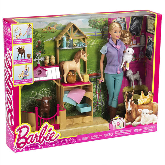 Barbie Doll Farm Vet and Playset