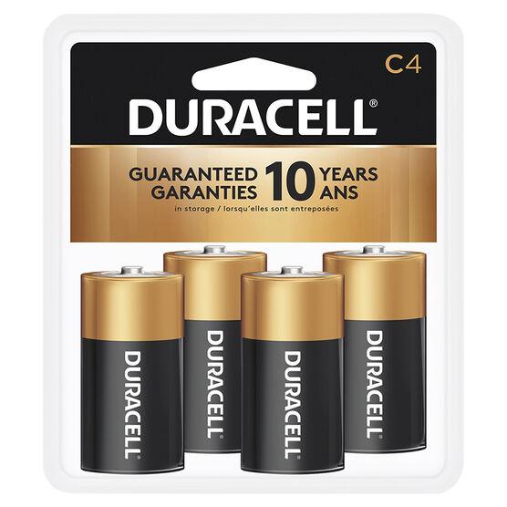 Duracell CopperTop C Alkaline Batteries - 4 pack