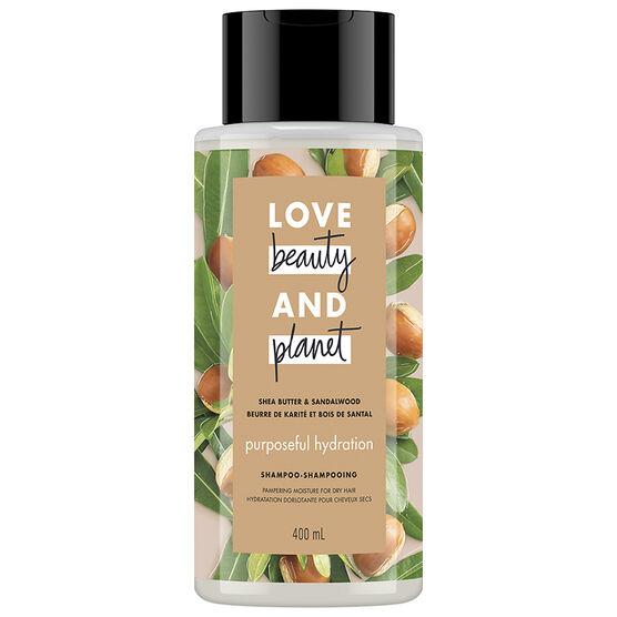 Love Beauty And Planet Purposeful Hydration Shampoo - Shea Butter & Sandalwood - 400ml