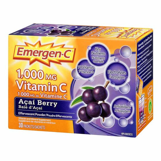 Emergen-C - Acai Berry - 30's
