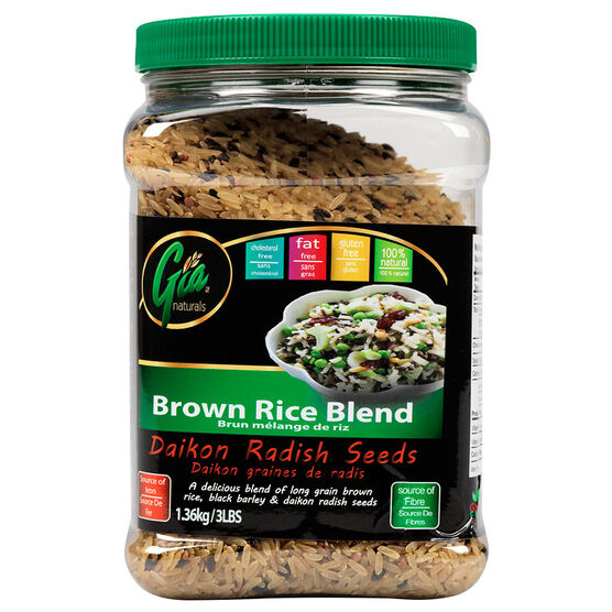Gia Naturals - Brown Rice Blend - Daikon Radish Seeds - 1.36kg