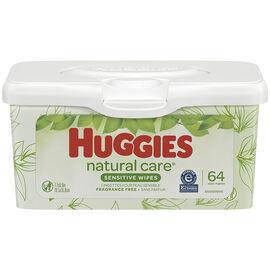 Huggies Natural Care Wipes - 64's