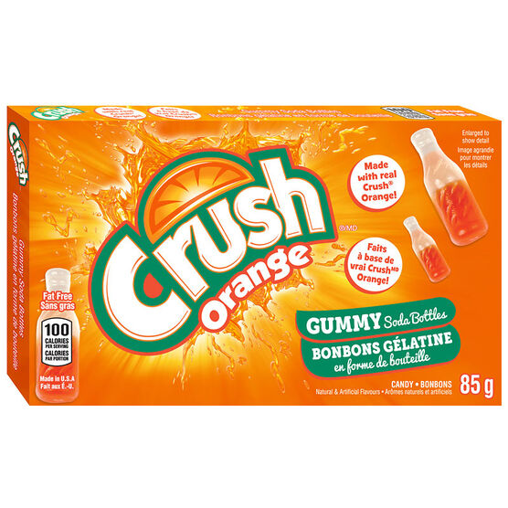 Orange Crush Soda Bottles Candy - 85g