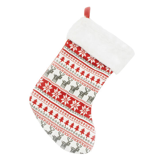 Christmas Knitted Stocking - 20in