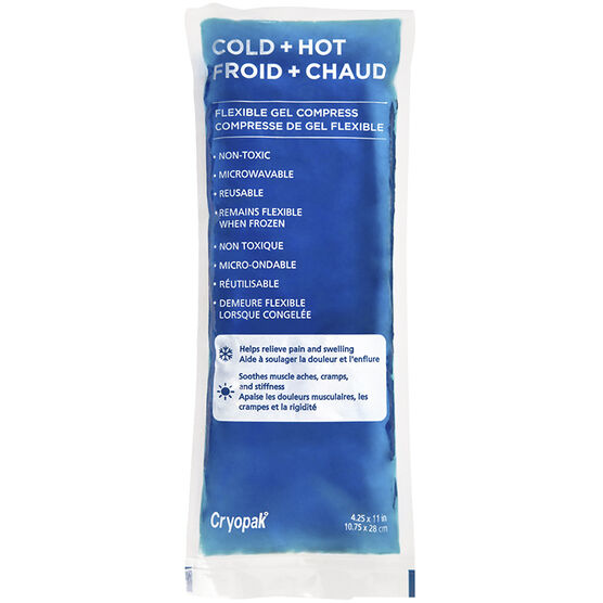 Cryopak Cold + Hot Flexible Gel Compress - 4.25 x 11inch