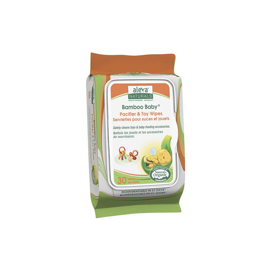 Bamboo Pacifier & Toy Wipes - 30's