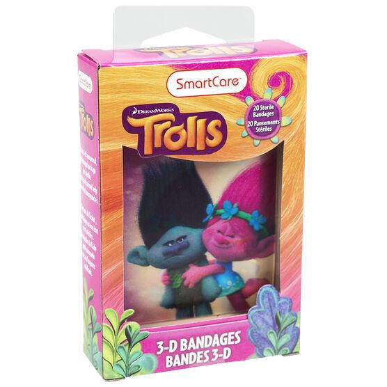 Smartcare Trolls 3-D Bandages - 20's