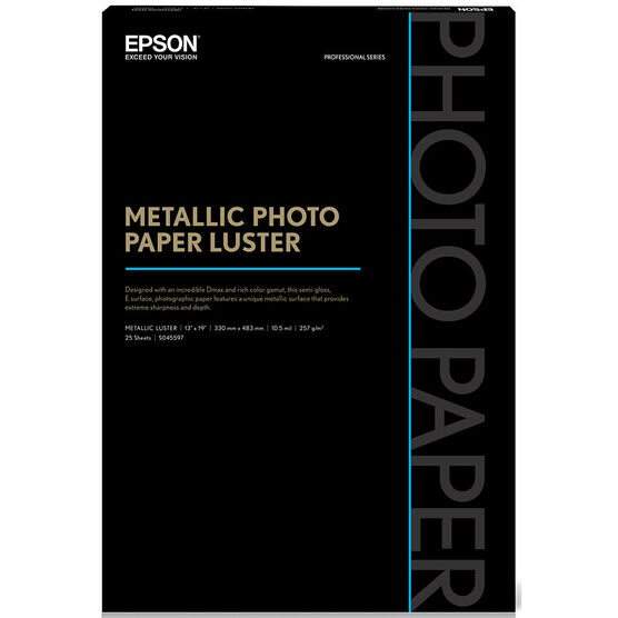 Epson Metallic Photo Paper - Luster - 13x19inch - 25 sheets -S045597