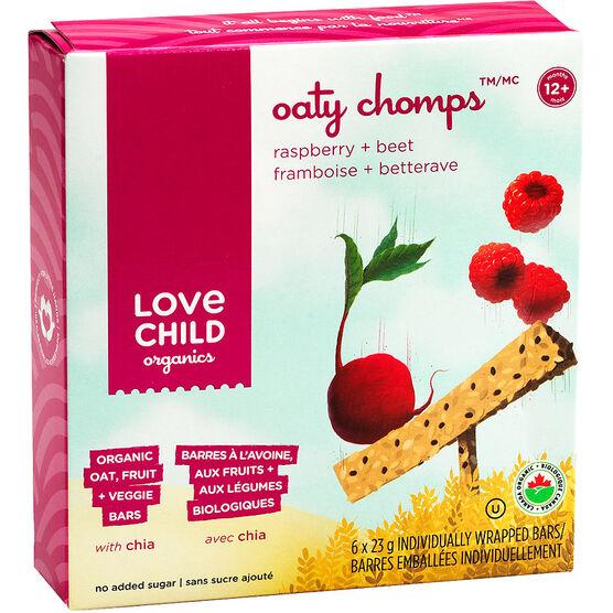 Love Child Oaty Chomps Bars - Beet Raspberry - 6 x 23g