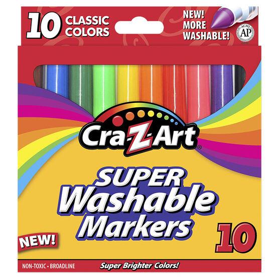 Cra-Z-Art Broadline Markers - Washable - 10's