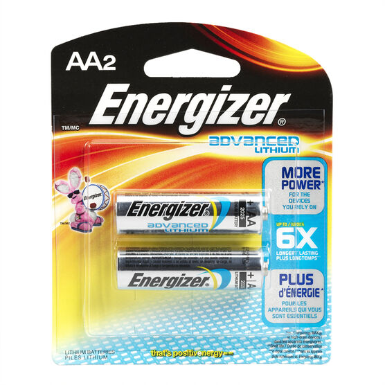 Energizer Advanced Lithium AA Batteries - 2 pack