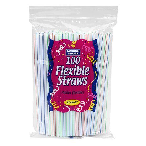 London Drugs 8-inch Flexible Straws - 100's