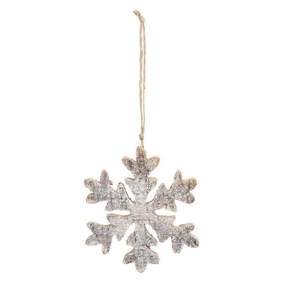 Wild Berries Wood Snowflake Ornament - 6in