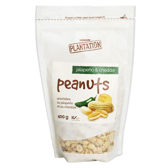 London Plantation Peanuts - Jalapeno & Cheddar - 400g