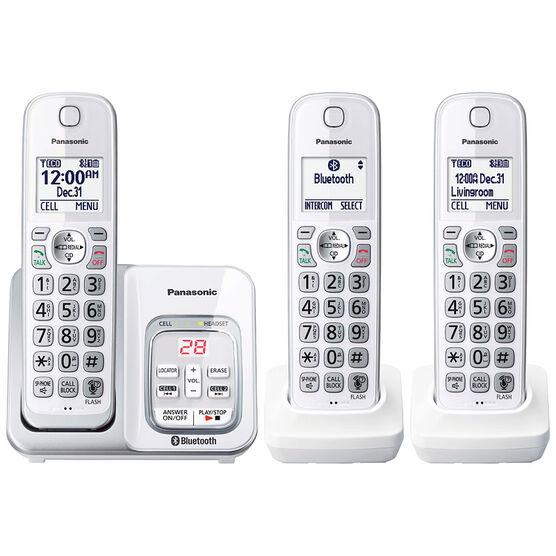 Panasonic 3-Handset Cordless Phone - White - KXTGD593W