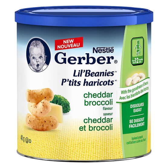 Gerber Lil' Beanies - Cheddar Broccoli - 40g