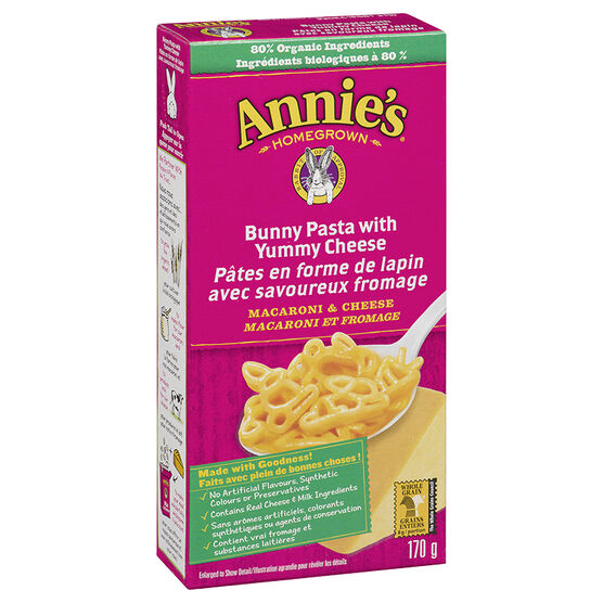 Annie's Bunny Pasta with Yummy Cheese - 170g