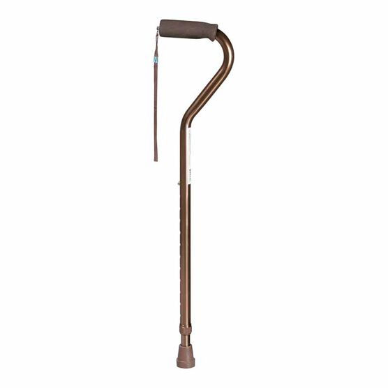 Airgo Aluminum Cane - Offset Handle - Bronze