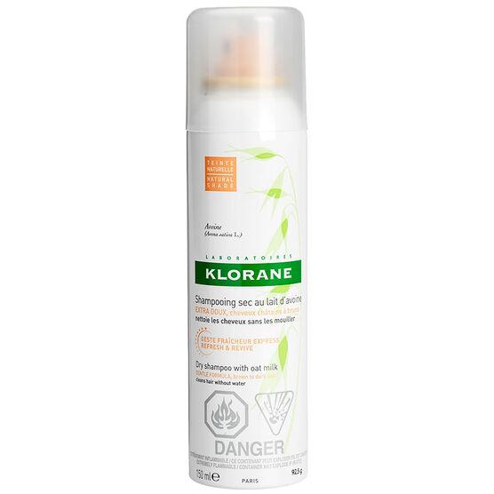Klorane Dry Shampoo with Oat Milk - Brown to Dark - 150ml