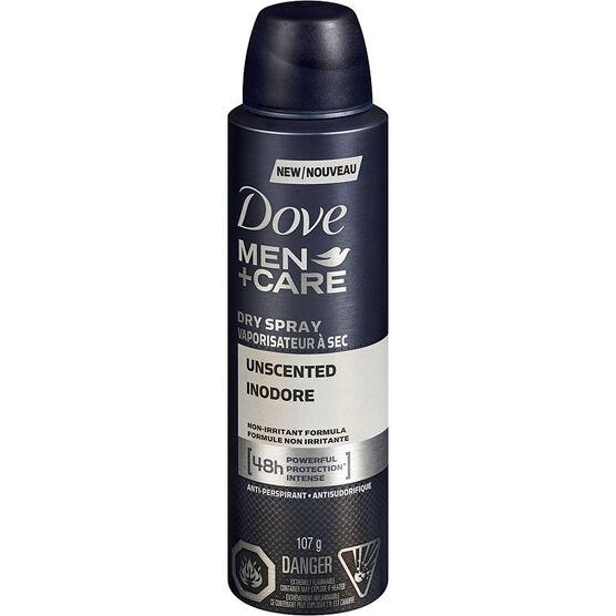 Dove Men+Care Dry Spray Anti-Perspirant - Unscented - 107g
