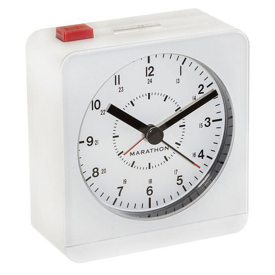 Marathon Desk Alarm Clock - White - CL030053WH