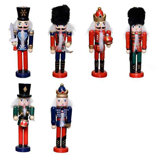 Winter Wishes Nutcracker Ornament - 5in - XLD82936FOB - Assorted