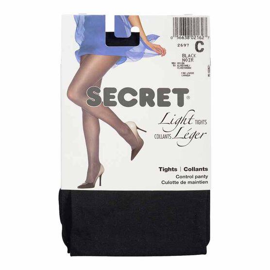 Secret Light Tights - B - Black