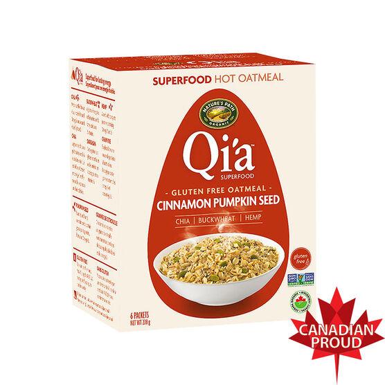 Nature's Path Qi'a Hot Oatmeal - Cinnamon Pumpkin Seed - 228g
