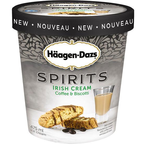 Haagen Dazs Spirits - Irish Cream Coffee & Biscotti - 500ml