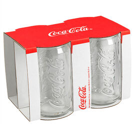 Coca Cola Embossed Tumblers - 12oz - 4 piece