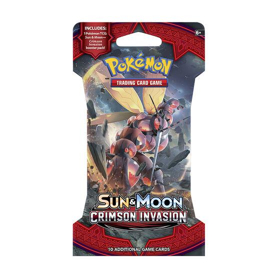 Pokémon Sun Moon 4 Blister Pack - Crimson Invasion