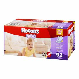 Huggies Little Movers Disposable Diaper - Size 3 - 92's