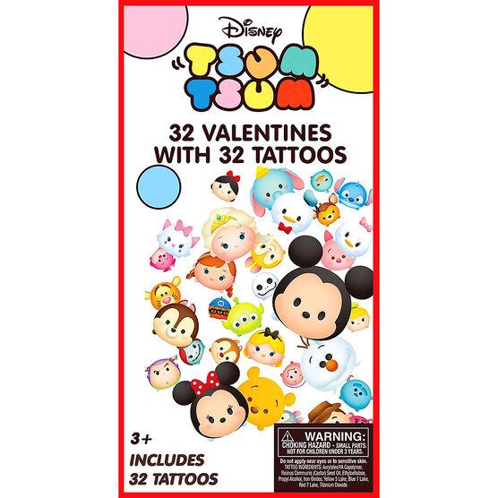 Disney Tsum Tsum Tattoo Valentines - 32s - 4154285