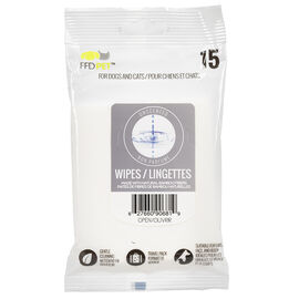 FouFou Pet Wipes - Unscented - 15's