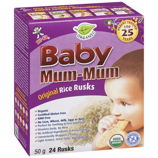 Baby Mum-Mum Organic Rice Rusks - Original - 50g
