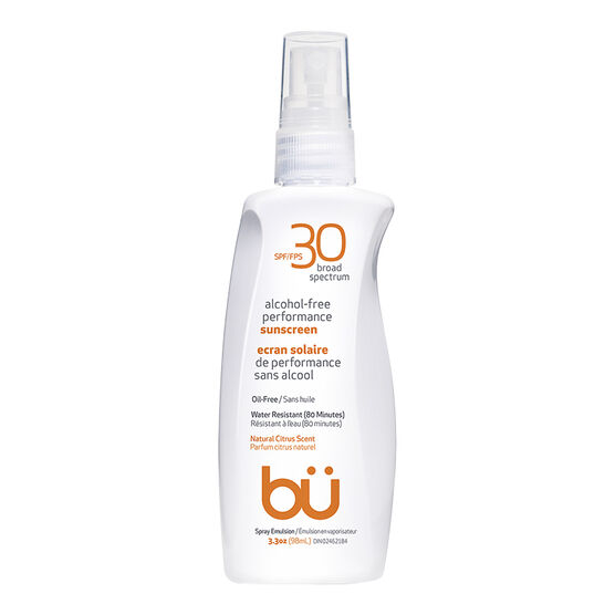 bu Alcohol-Free Performance Sunscreen - Natural Citrus Scent - SPF30 - 98ml
