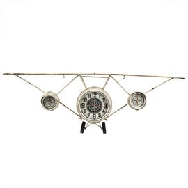 London Drugs Metal Airplane Wall Clock - Antique Finish