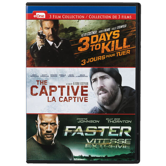3 Days To Kill / Captive / Faster - DVD