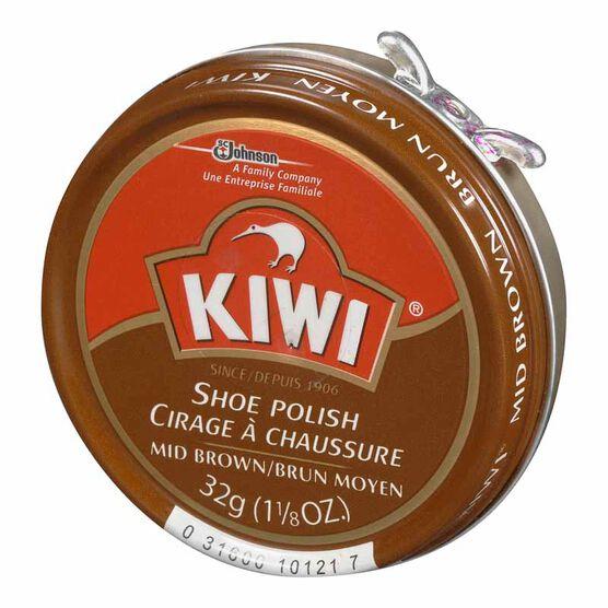 Kiwi Paste Polish - Mid Brown - 32g