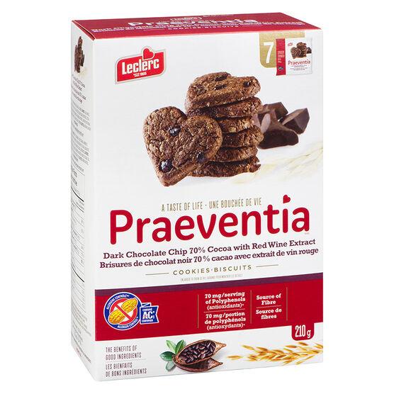 Leclerc Praeventia Cookies - Dark Chocolate -  210g