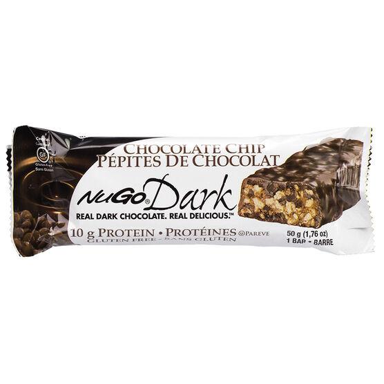 NuGo Dark Chocolate Protein Bar - Chocolate Chip - 50g