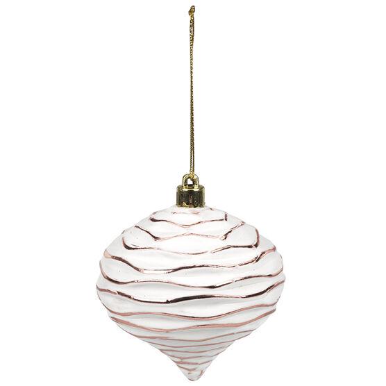 Rose Gold Wave Onion Ornament - 8cm