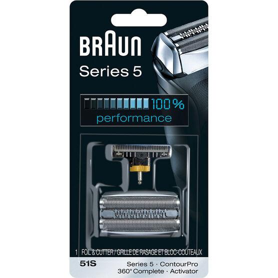 Braun 51S/Series 5 - 8000 Series/360° Complete, Activator Foil & Cutter